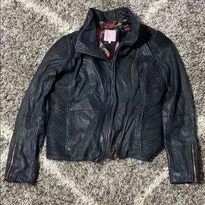 Ted Baker black leather jacket. Gorgeous size 3